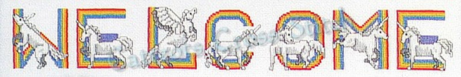 Cross Stitch Pattern Fantasy Alphabet Wizard Castle Knights Unicorn