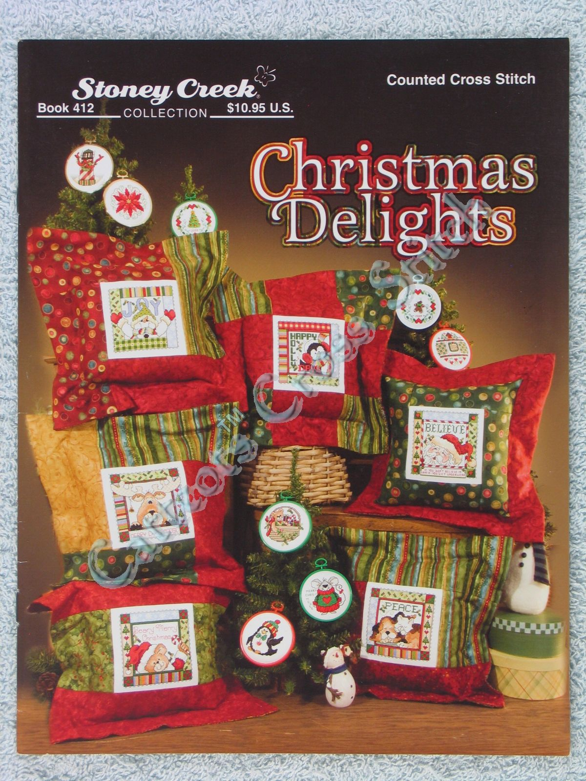 Cross Stitch Pattern Christmas Delights 13 Fun Whimsical Ornaments